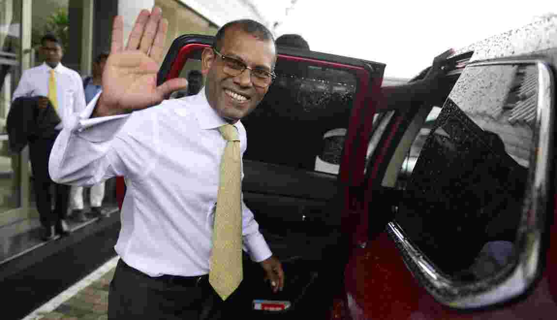"""L'ex-président des Maldives, champion du climat, déçu par le """"peu de progrès"""""""