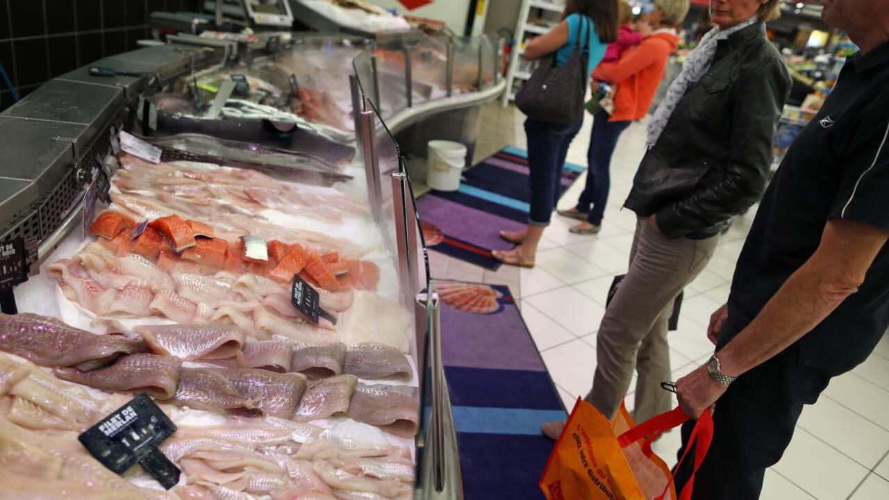 La quasi-totalité des poissons en grande surface non issus de la pêche durable