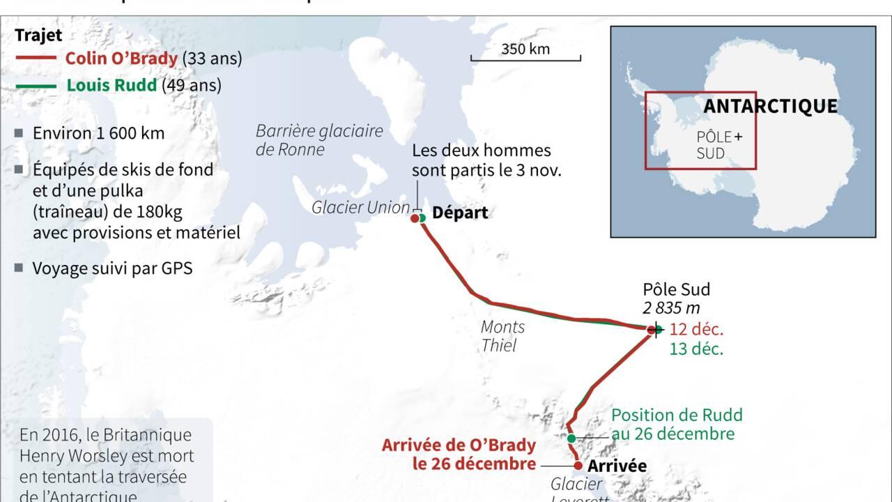 Exploit d'un Américain, premier à traverser l'Antarctique en solo et sans assistance