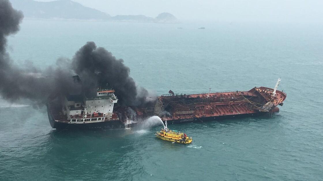 Hong Kong: un mort et deux disparus dans l'incendie d'un pétrolier