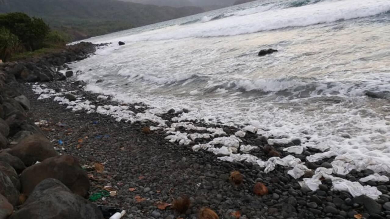 Aux Marquises, l'île de Brel et Gauguin souillée par des sacs plastique chinois
