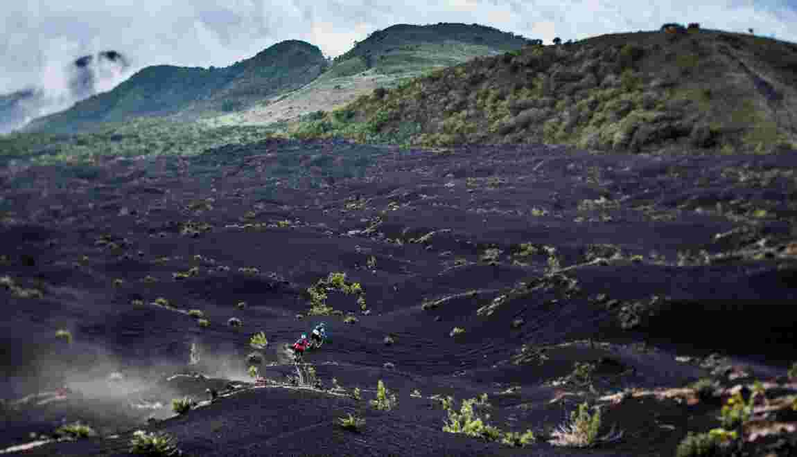 Les volcans du Guatemala à VTT