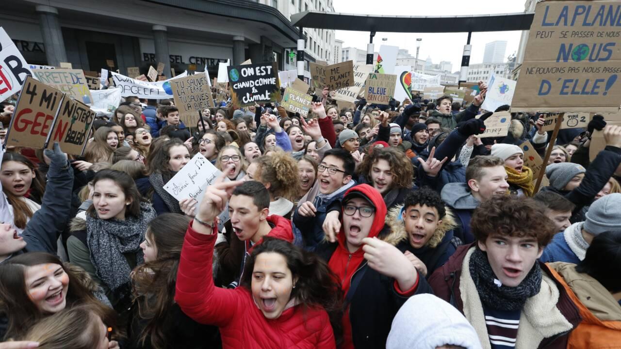 Marche pour le climat: la mobilisation des jeunes grandit en Belgique