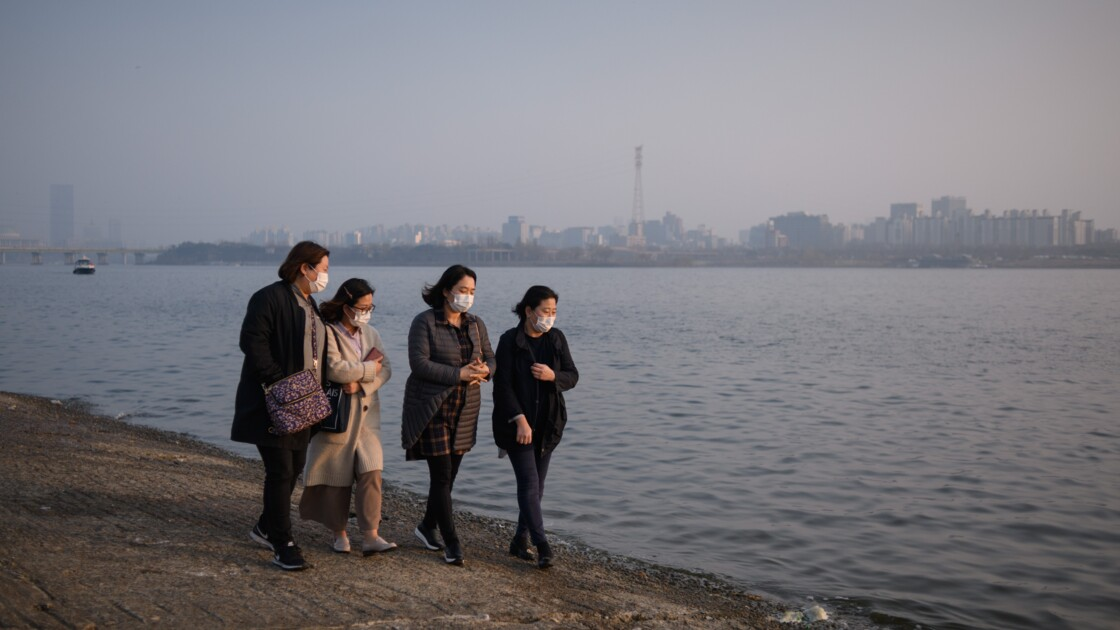 """Le combat aérien de la Corée du Sud contre la pollution """"chinoise"""""""