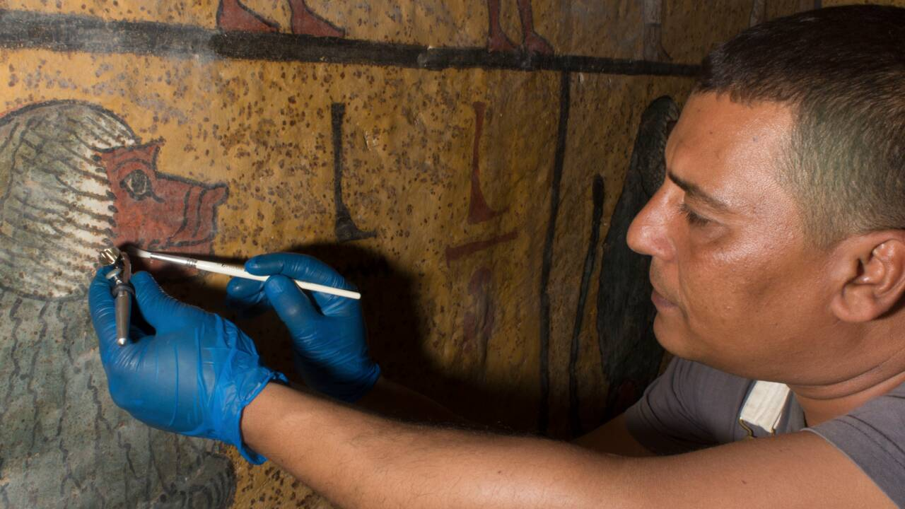 La tombe de Toutânkhamon prend un coup de jeune grâce à une vaste opération de conservation
