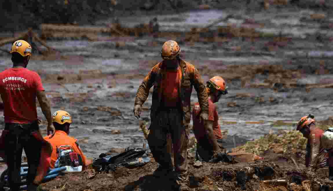 A Brumadinho, l'espoir de trouver des survivants s'amenuise