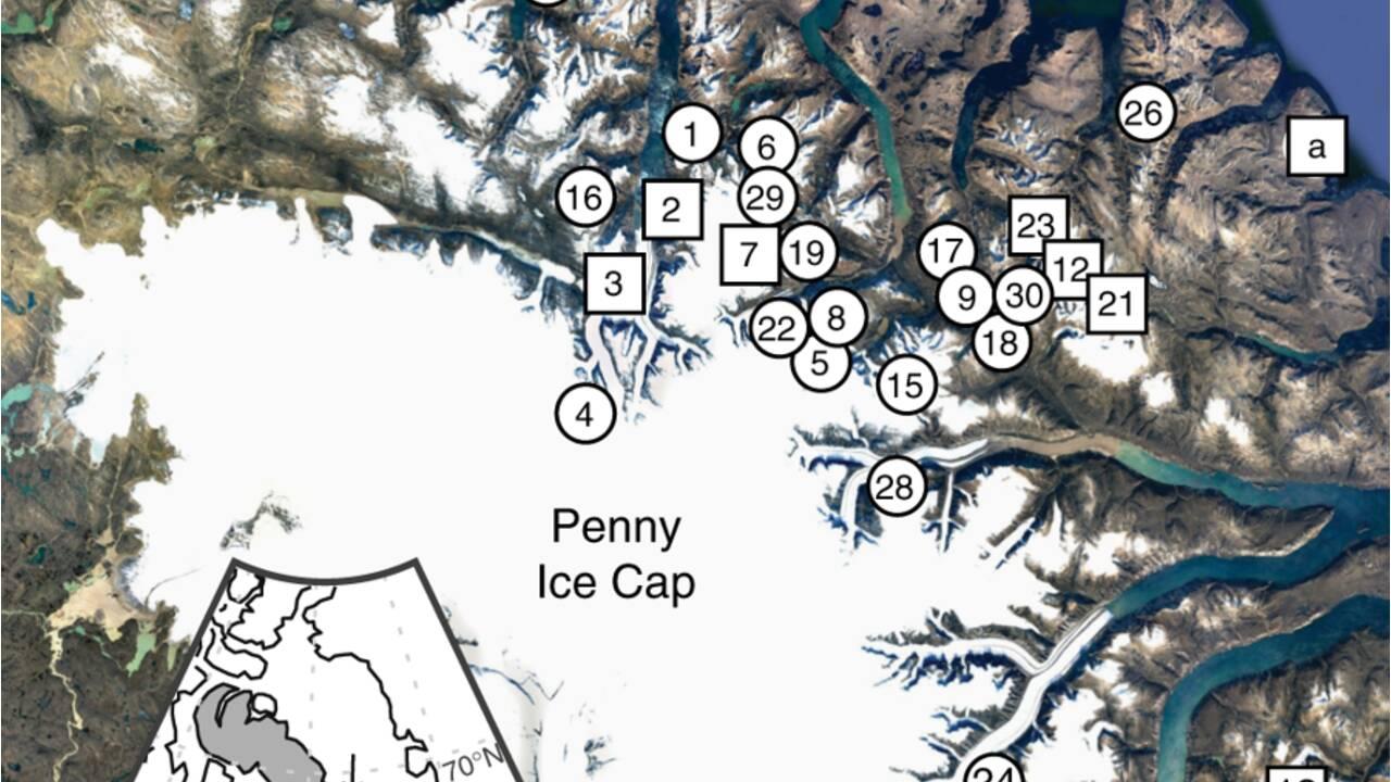 En Arctique, des paysages enfouis depuis plus de 40 000 ans ont refait surface