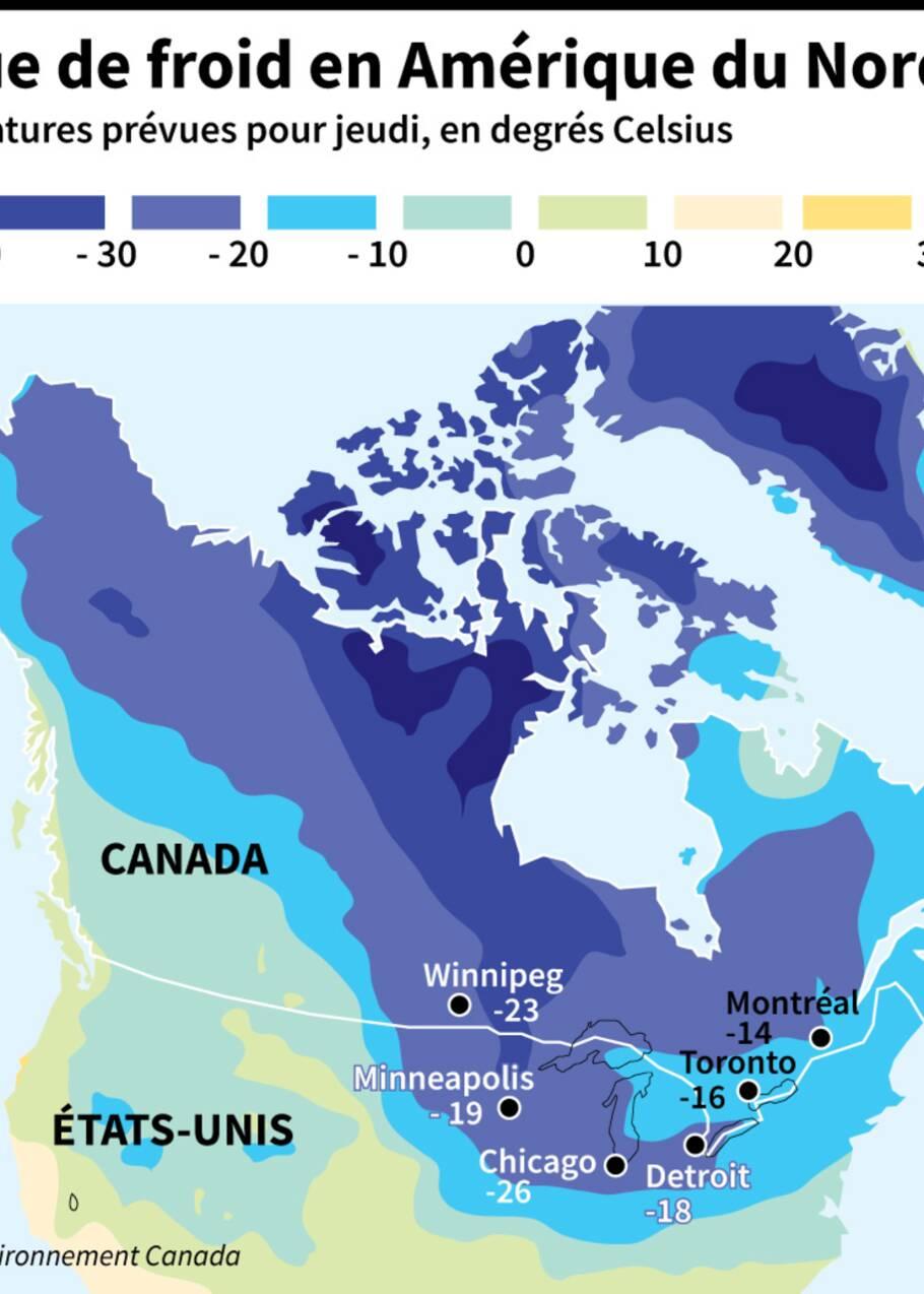 Le nord des Etats-Unis pétrifié par un froid extrême