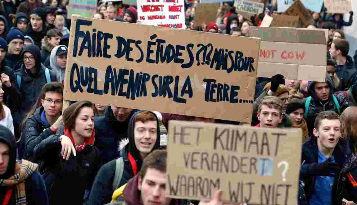 Des milliers de jeunes marchent à nouveau pour le climat à Bruxelles