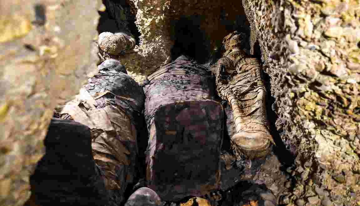 L'Egypte révèle la découverte de plusieurs dizaines de momies