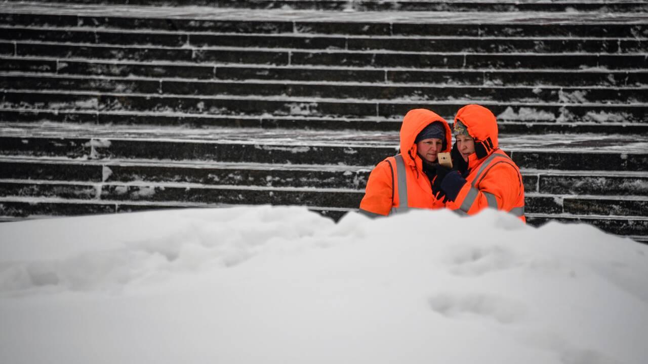 A Moscou, le déneigement ne manque pas de sel
