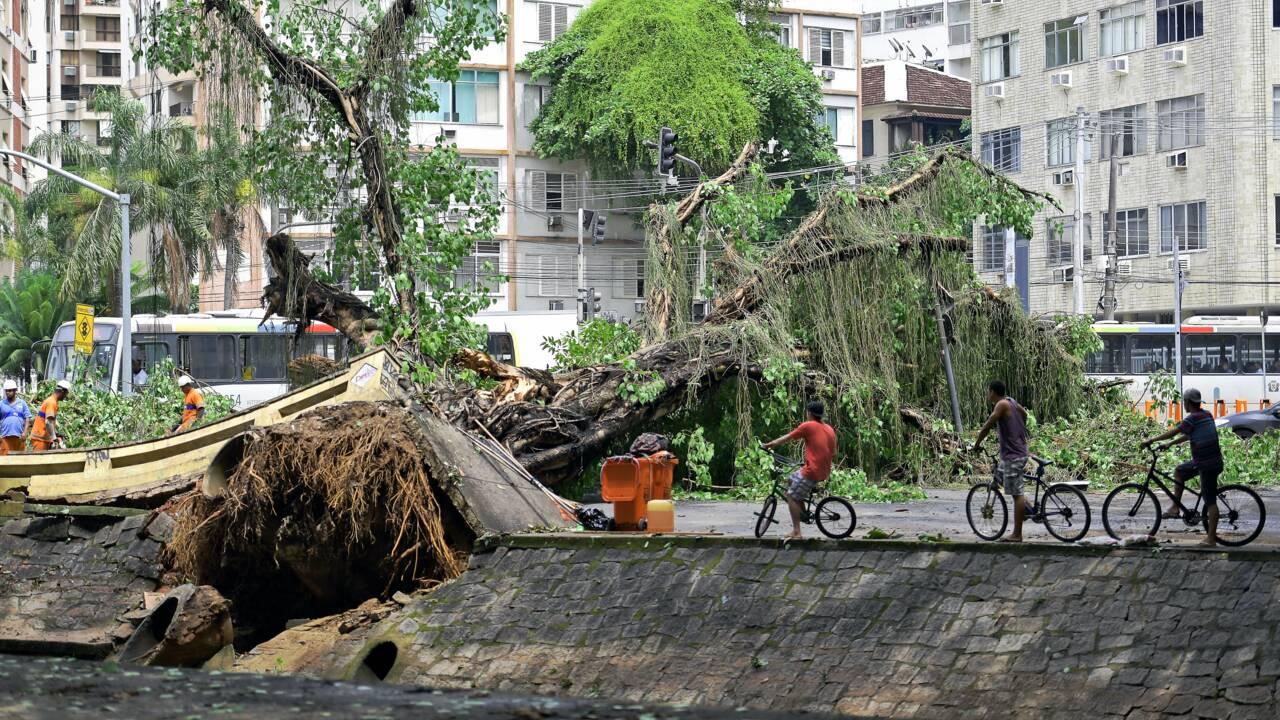 Pluies diluviennes à Rio: six morts