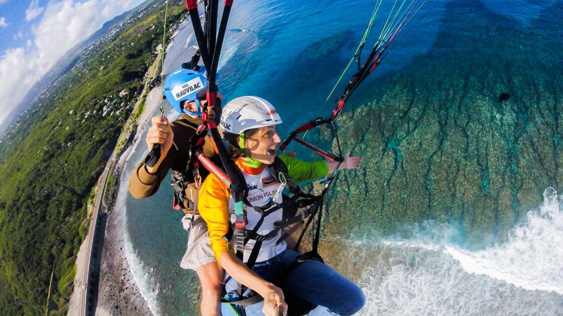 Île de La Réunion, Saint-Leu : le grand saut au-dessus de l'océan Indien