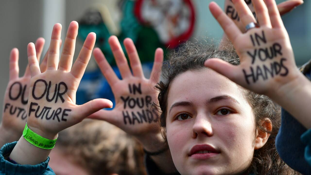 L'égérie du climat Greta Thunberg porte son message au coeur de l'Europe
