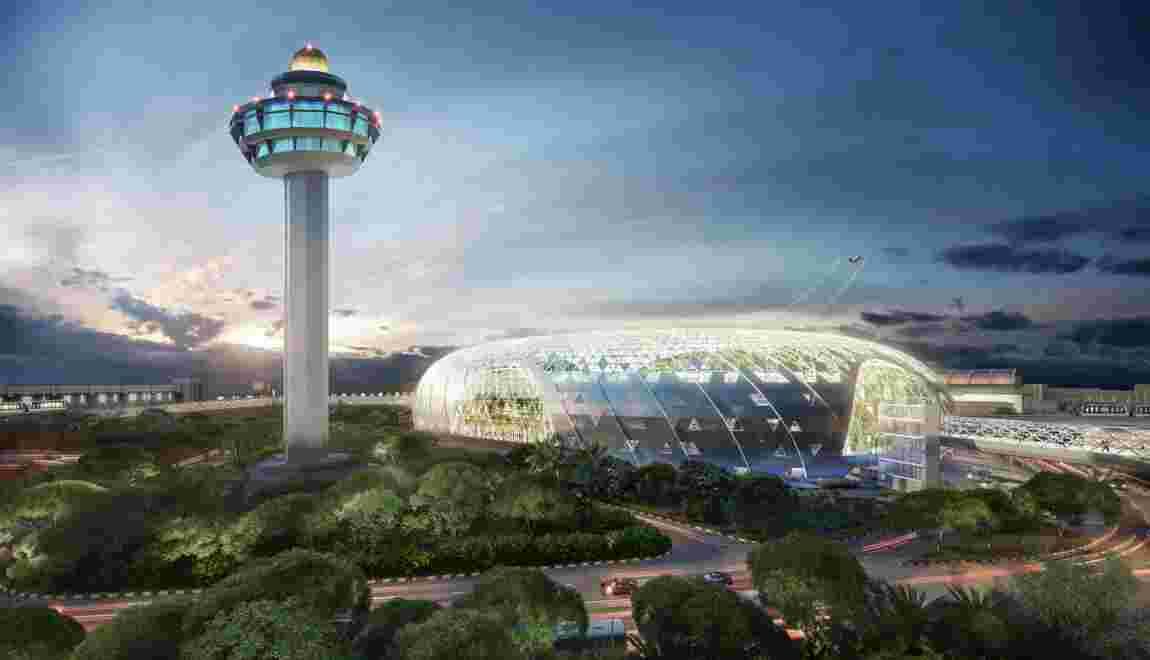 Singapour s'apprête à inaugurer un complexe unique au monde dans son aéroport
