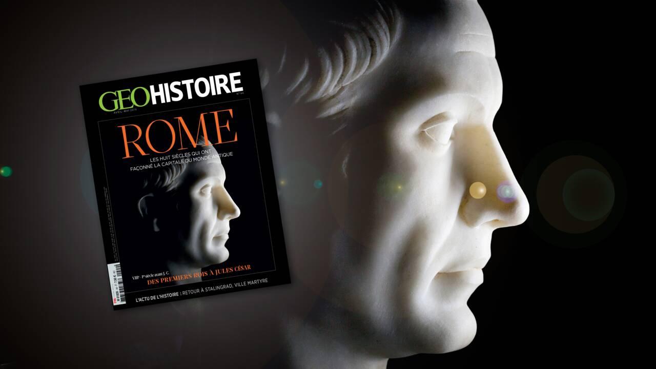 Des premiers rois à Jules César, Rome dans le nouveau GEO Histoire