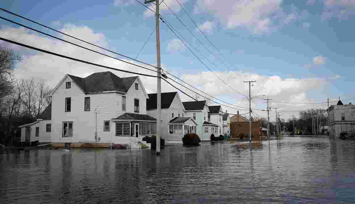 USA: plus d'un milliard de dollars de dégâts dus à des inondations