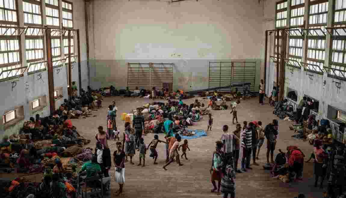 Au Mozambique, des sinistrés du cyclone la faim au ventre
