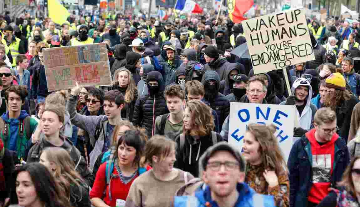 Plusieurs milliers de personnes en Belgique pour le climat
