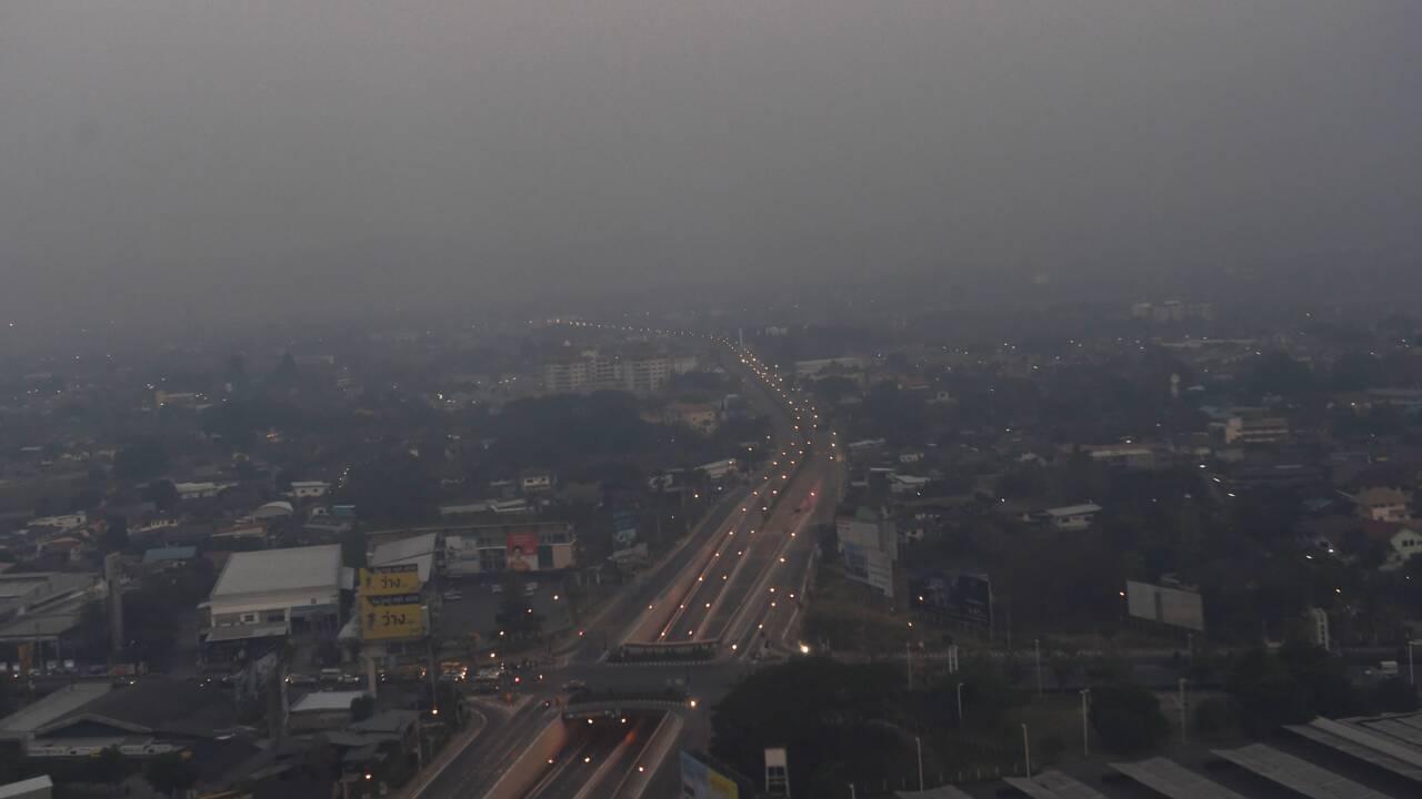 Taux record de pollution dans le nord de la Thaïlande