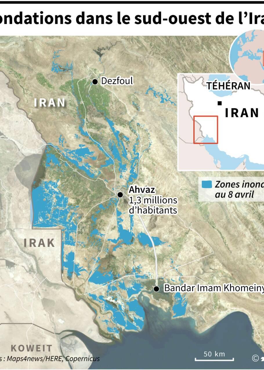 Inondations : nouvel ordre d'évacuation dans le sud-ouest de l'Iran