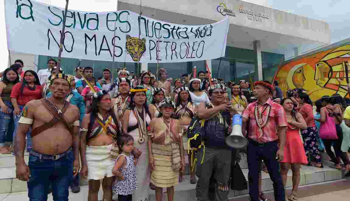 En Equateur, des Amérindiens se mobilisent contre un projet d'exploration pétrolière en Amazonie