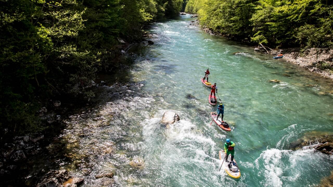 Monténégro : ils ont descendu en paddle l'impétueuse rivière Tara