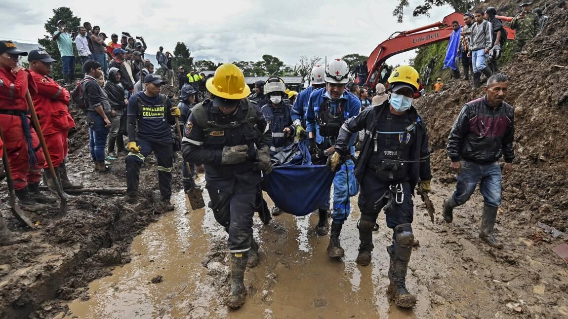 Glissement de terrain en Colombie: 28 morts, selon un nouveau bilan