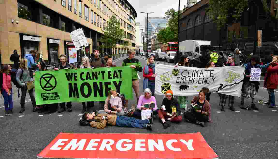 Climat: Extinction Rebellion cible le secteur financier londonien