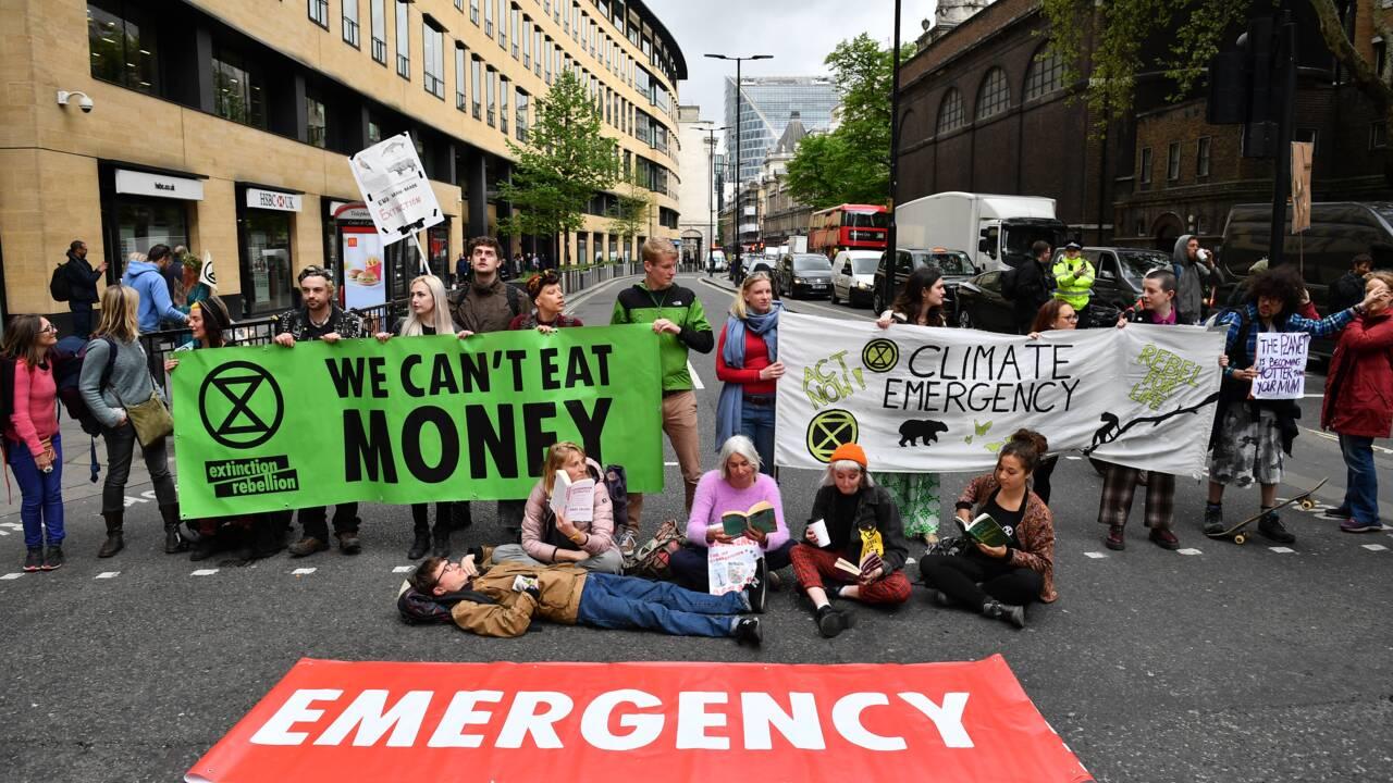 Climat: Extinction Rebellion cible le secteur financier londonien