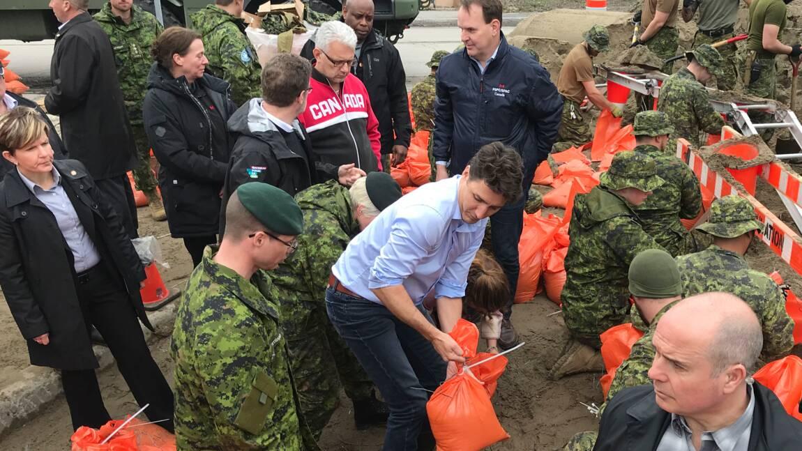 Inondations au Canada: premier déplacement de Trudeau sur le terrain
