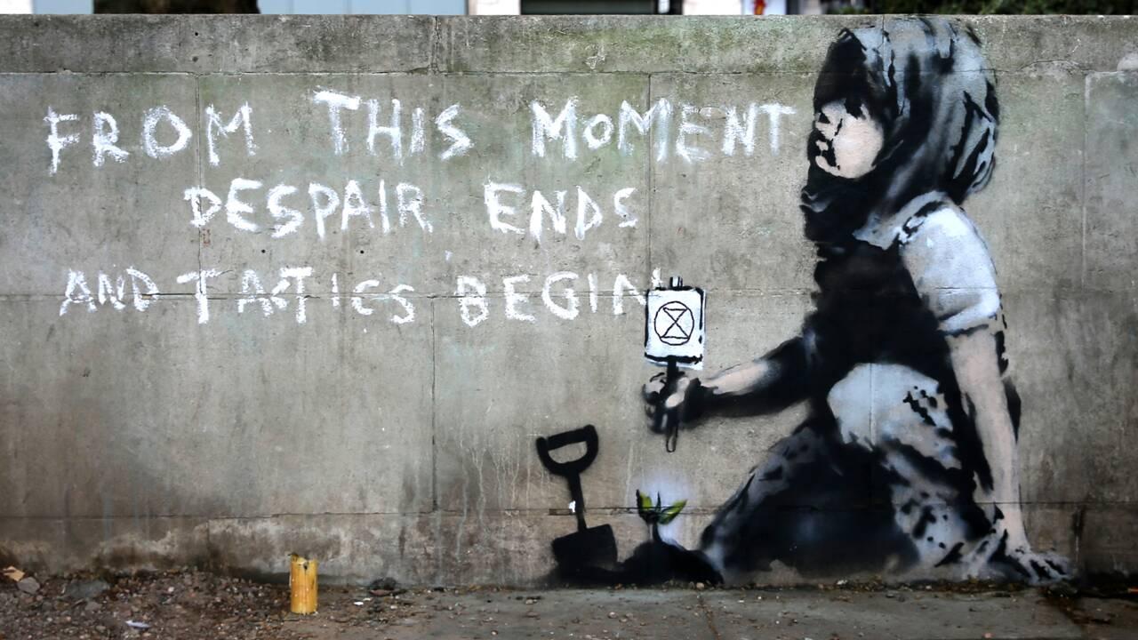 Banksy engagé pour la planète ? A Londres, une nouvelle œuvre lui est attribuée