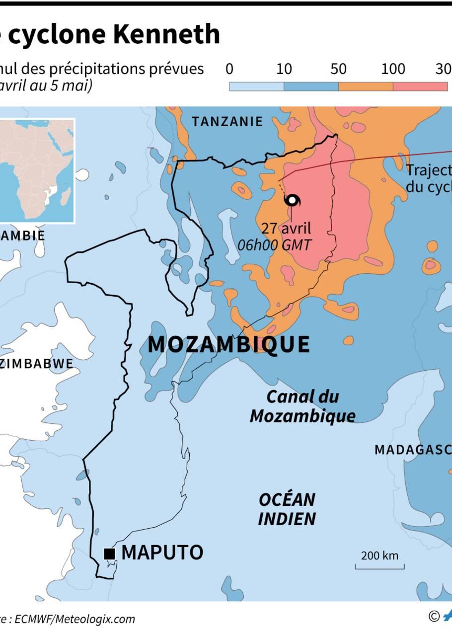 Mozambique: le cyclone Kenneth a fait de gros dégâts et au moins un mort