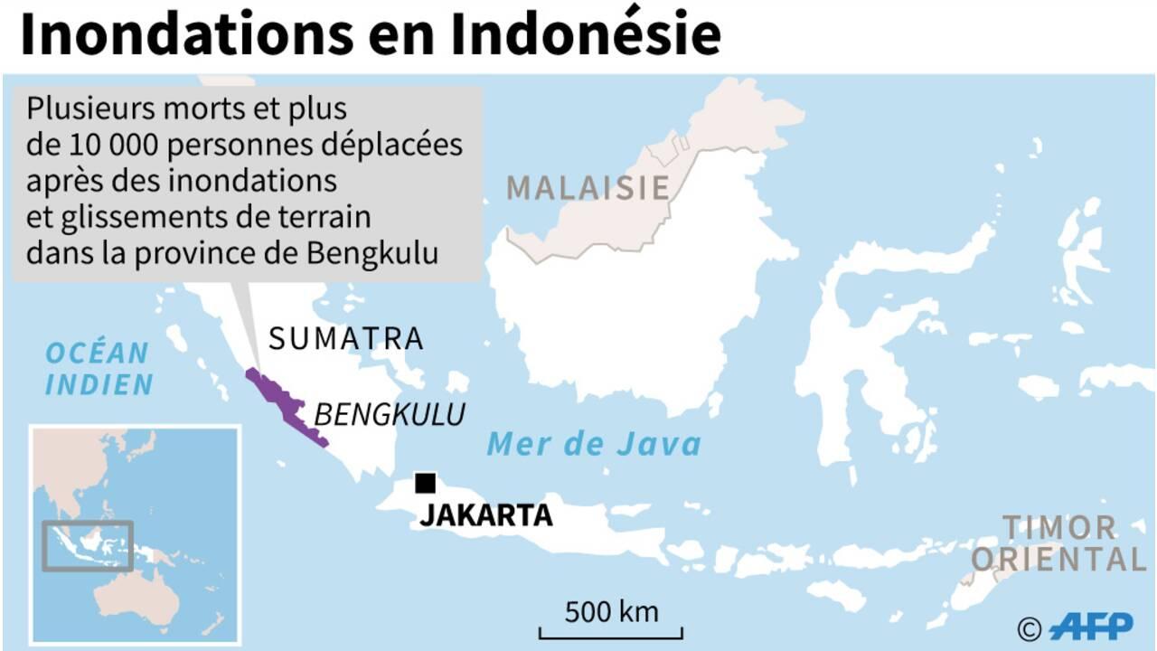 Des inondations en Indonésie font près de 40 morts