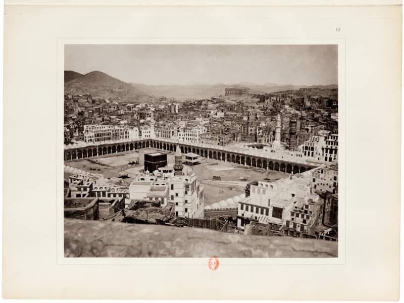 Vue sur le haram sacré et sur la ville de la Mecque, Muhammad Sadiq Bey (Arabie Saoudite, 1881)