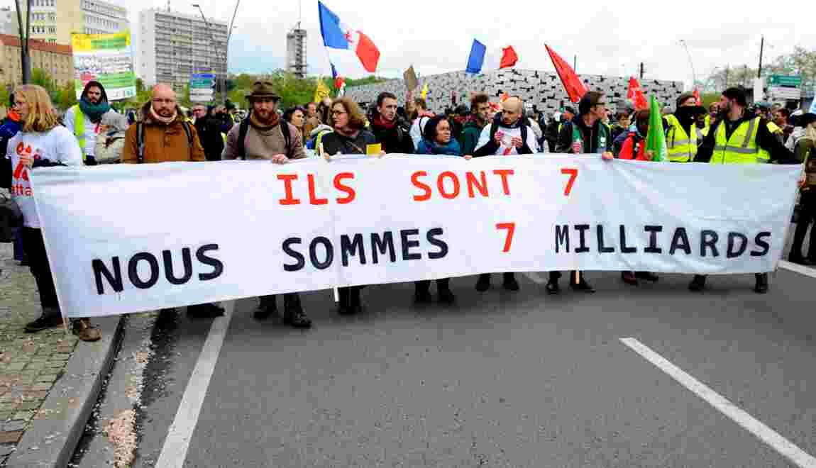 """Metz: écologistes et """"gilets jaunes"""" manifestent avant le G7 Environnement"""