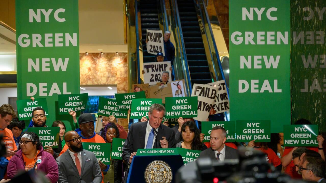 Le maire de New York s'offre une manifestation à la Trump Tower