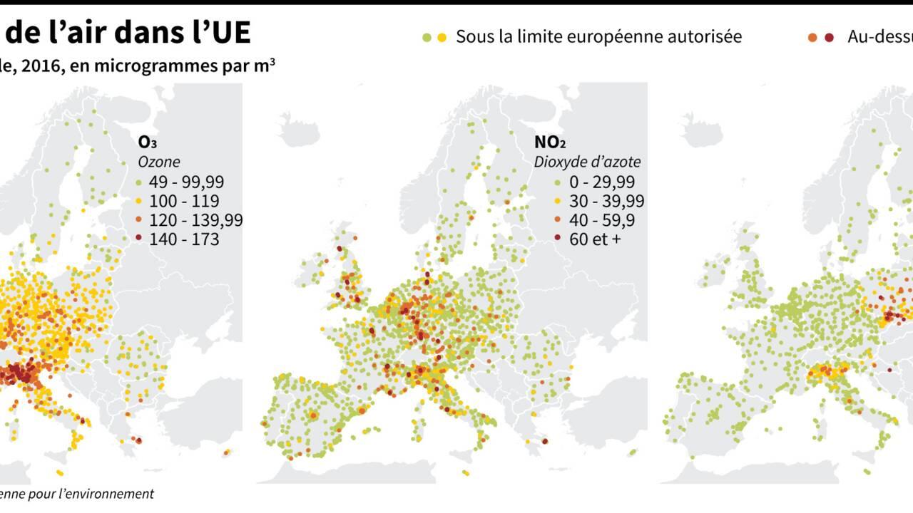 Quelles sont les régions les plus polluées d'Europe ?