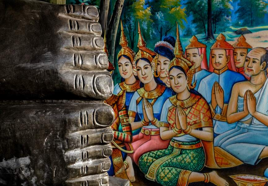 Visite du Vat Traeuy Kaoh