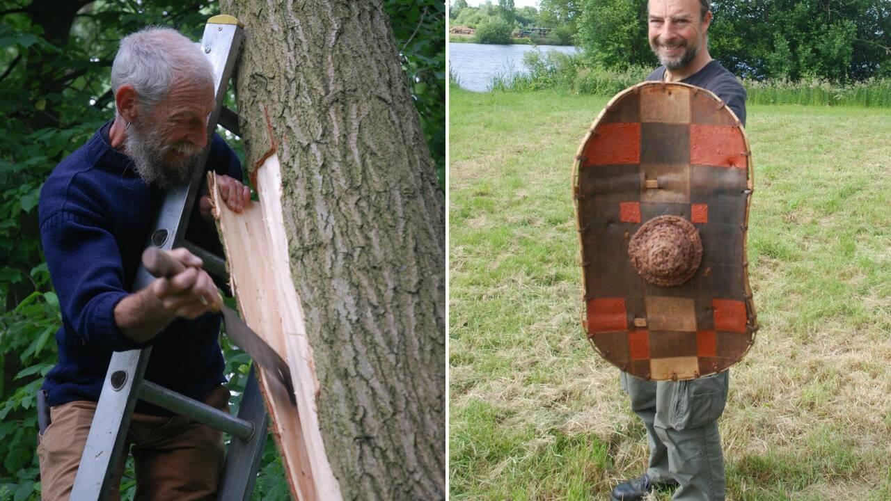 En Angleterre, des archéologues découvrent le premier bouclier de l'âge du fer fabriqué avec de l'écorce