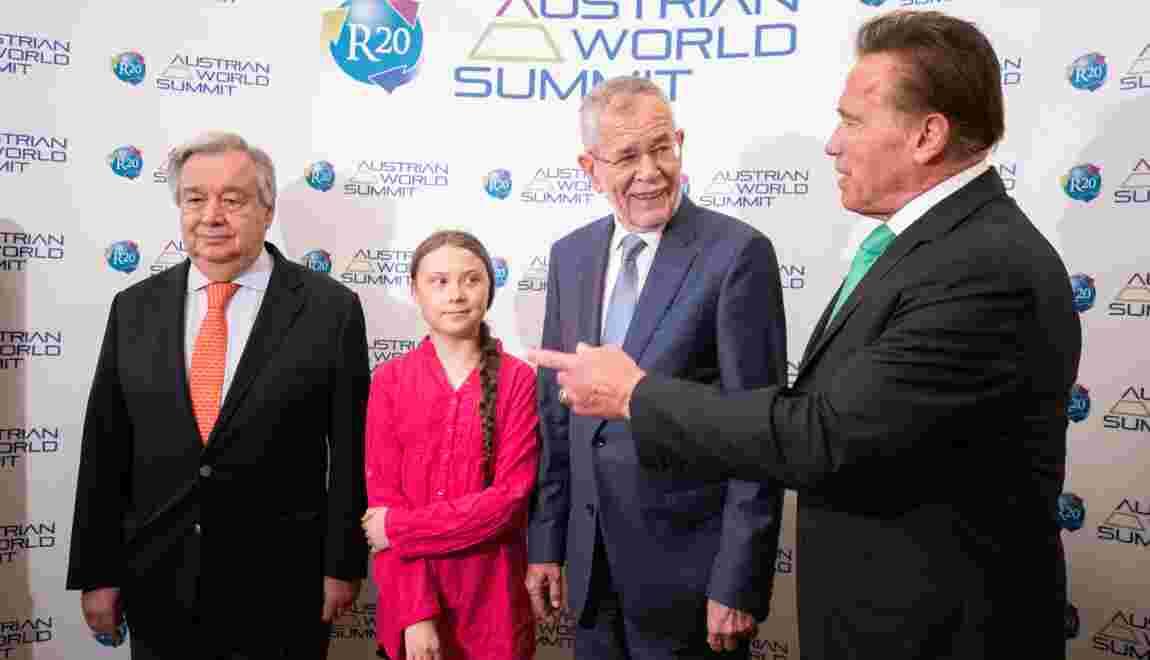 Greta Thunberg et Arnold Schwarzenegger s'allient pour le climat