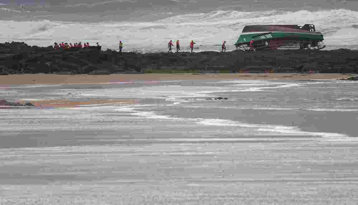 Tempête Miguel: trois morts sur une vedette de la SNSM au large des Sables-d'Olonnes