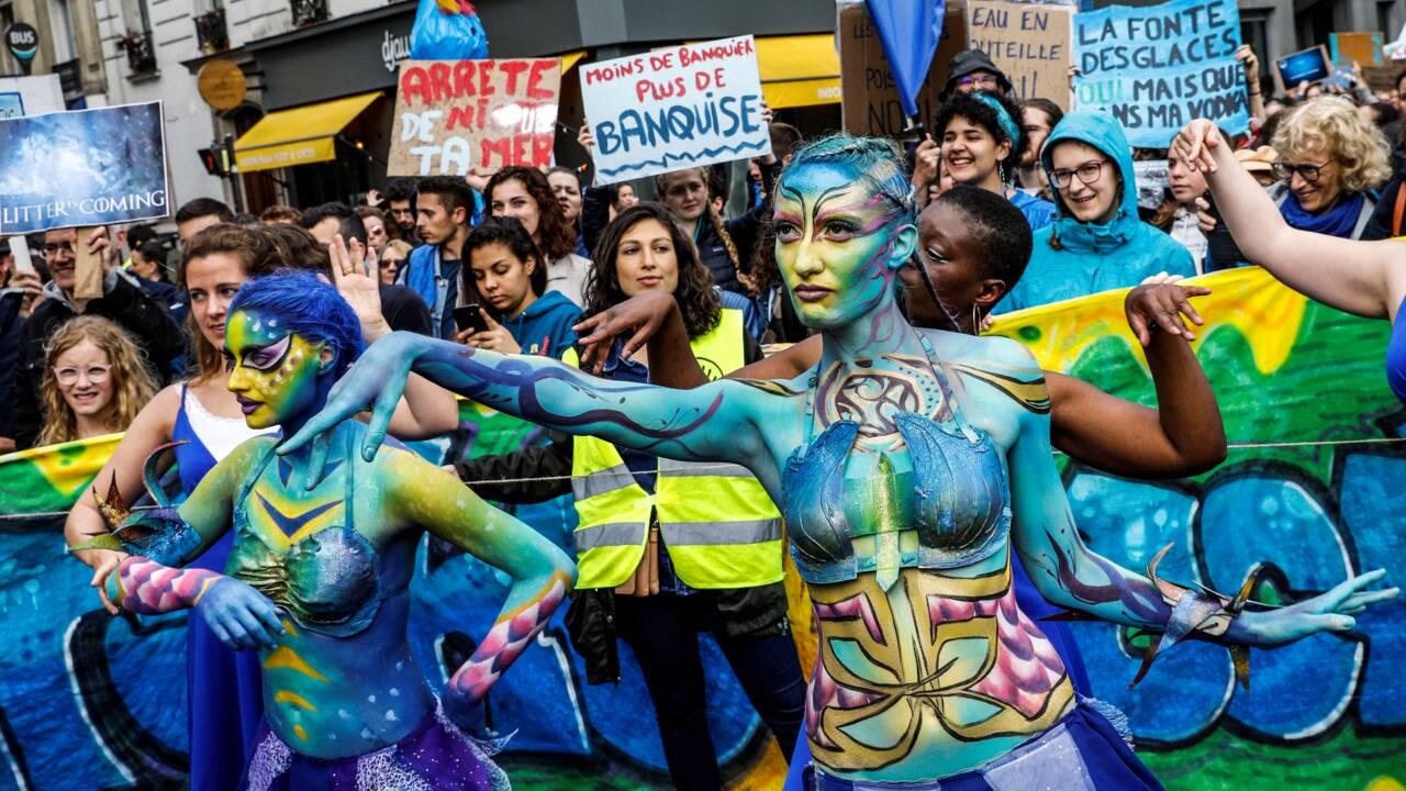 Mobilisation à Paris pour la Journée mondiale de l'océan