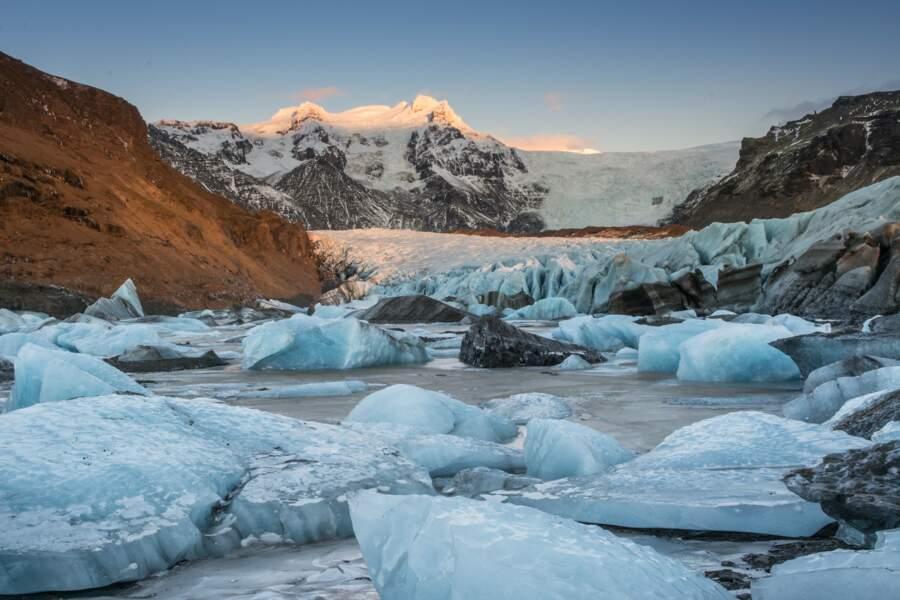 Le Svínafellsjökull, un glacier en Islande