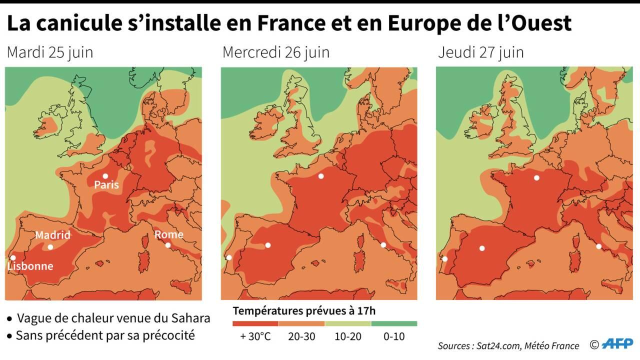 La canicule s'installe sur l'Europe, records de chaleur attendus