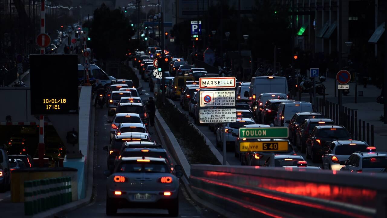 La circulation différenciée mise en place jeudi à Marseille pour la première fois
