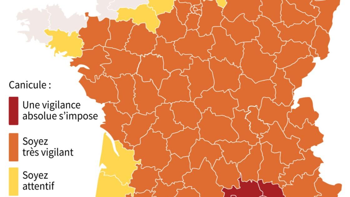 Record de chaleur pour un mois de juin en France: 41,9°C dans le Gard