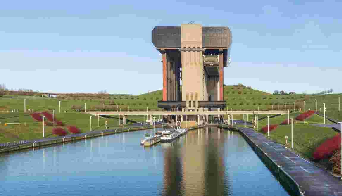 Belgique : à Strépy-Thieu, un ascenseur à bateaux (presque) aussi haut que celui des Trois-Gorges
