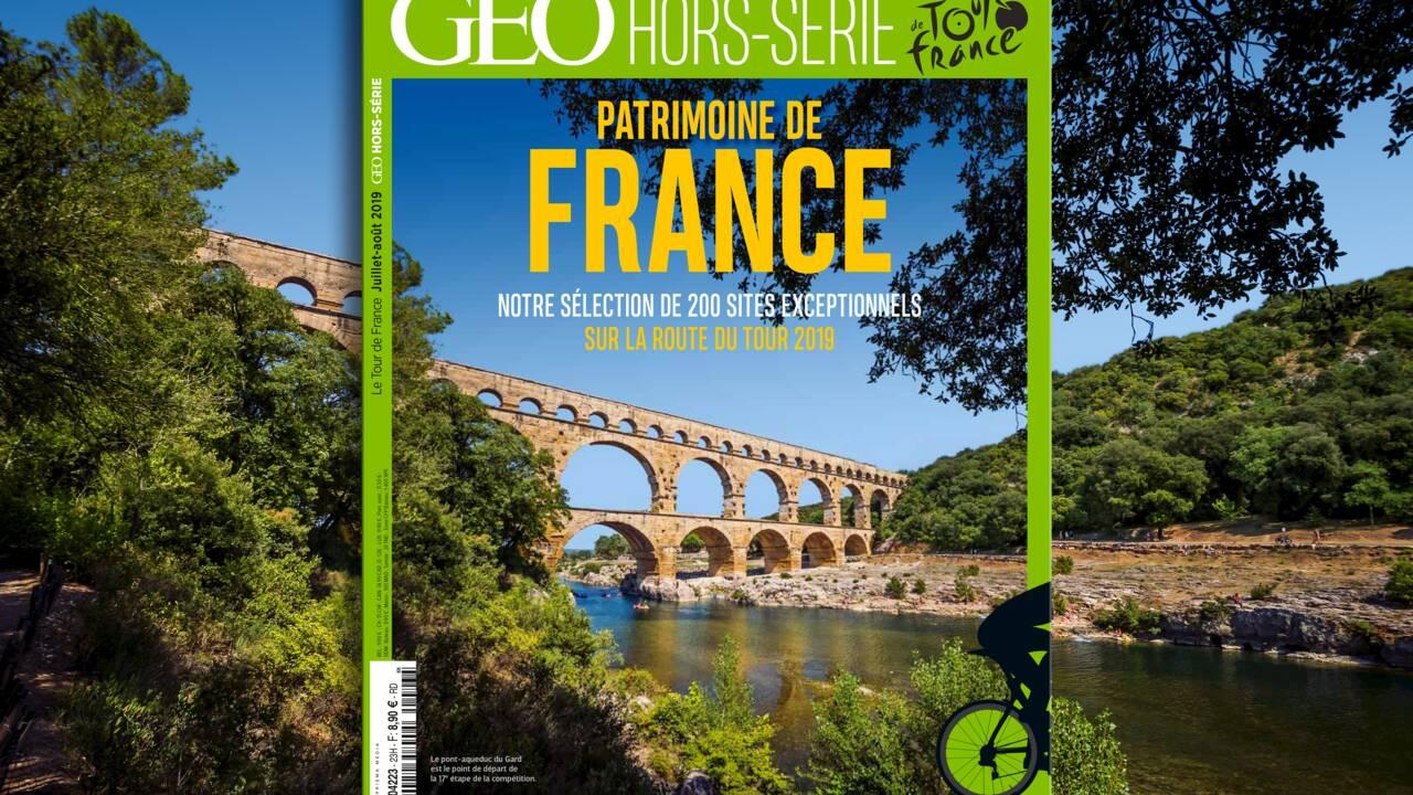 Patrimoine : 200 sites exceptionnels sur la route du Tour de France 2019 dans le nouveau hors-série GEO