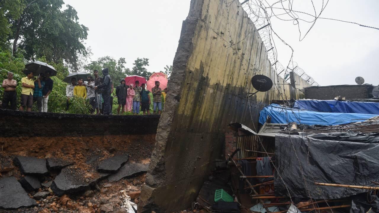 Mousson en Inde : 22 morts dans l'effondrement d'un mur à Bombay